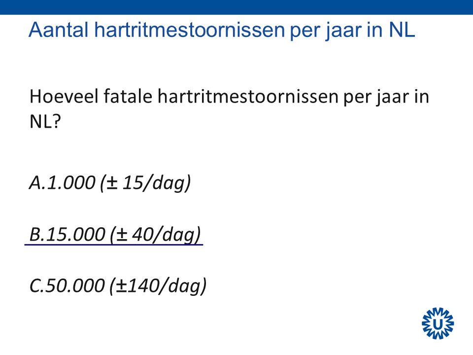 Aantal hartritmestoornissen per jaar in NL