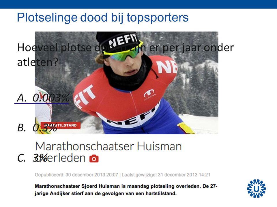 Plotselinge dood bij topsporters