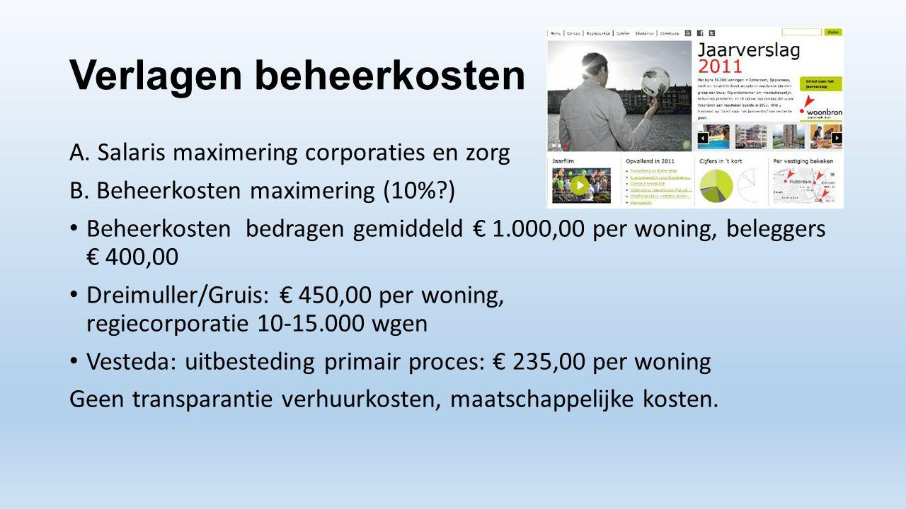 Verlagen beheerkosten