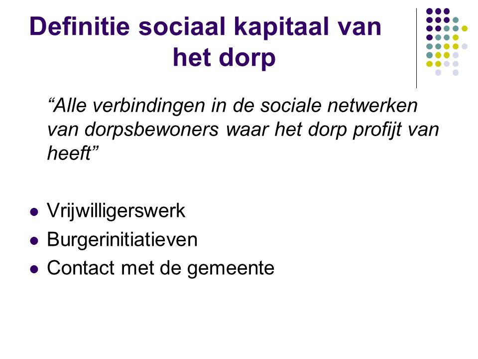 Definitie sociaal kapitaal van het dorp