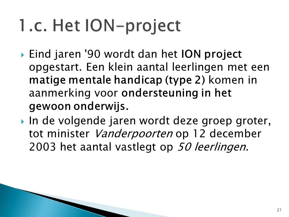 1.c. Het ION-project
