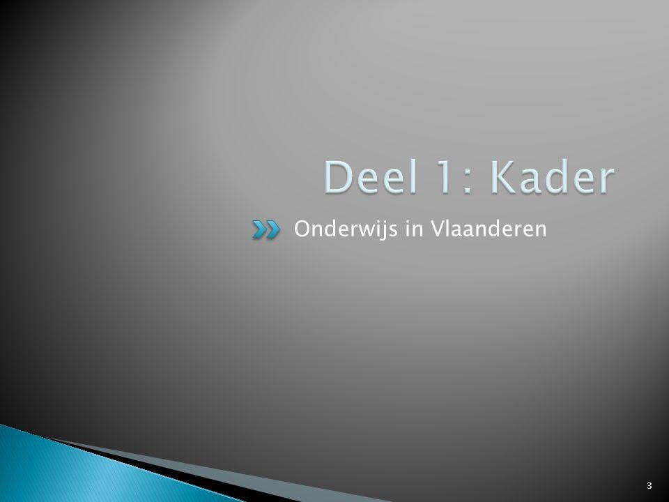 Deel 1: Kader Onderwijs in Vlaanderen