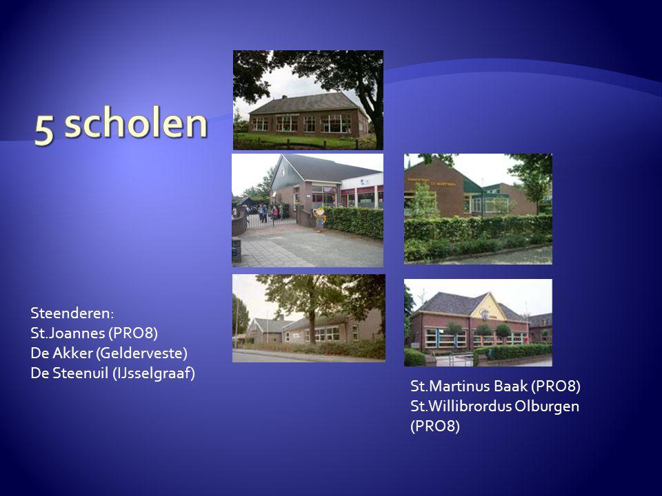 5 scholen Steenderen: St.Joannes (PRO8) De Akker (Gelderveste)