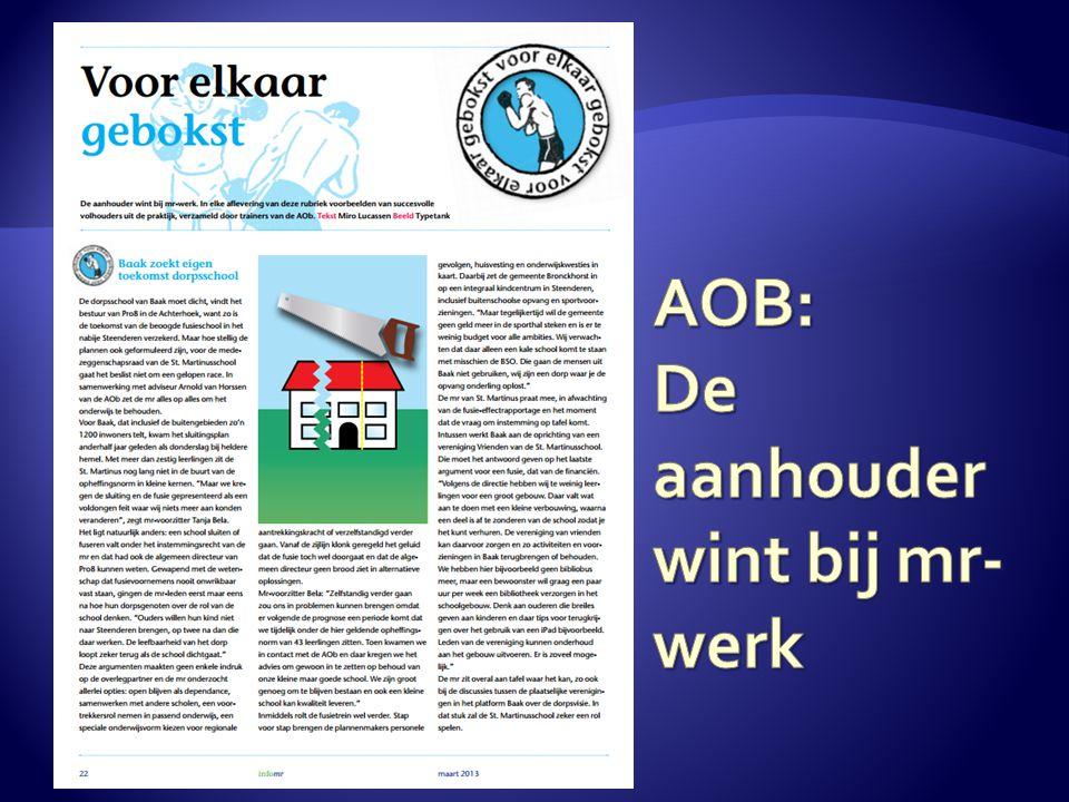 AOB: De aanhouder wint bij mr-werk