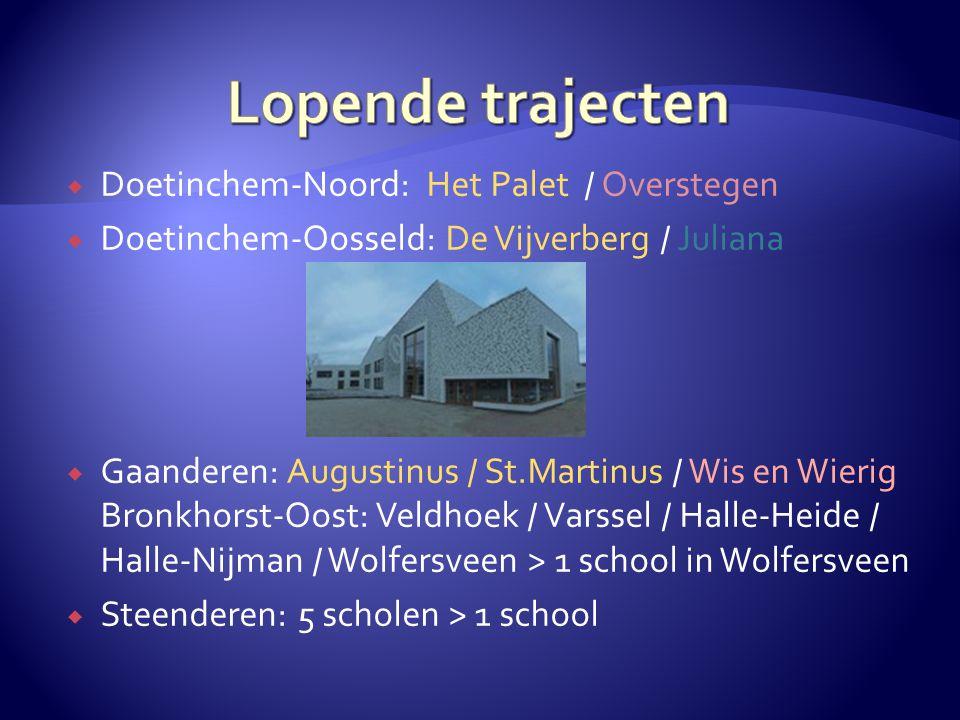Lopende trajecten Doetinchem-Noord: Het Palet / Overstegen