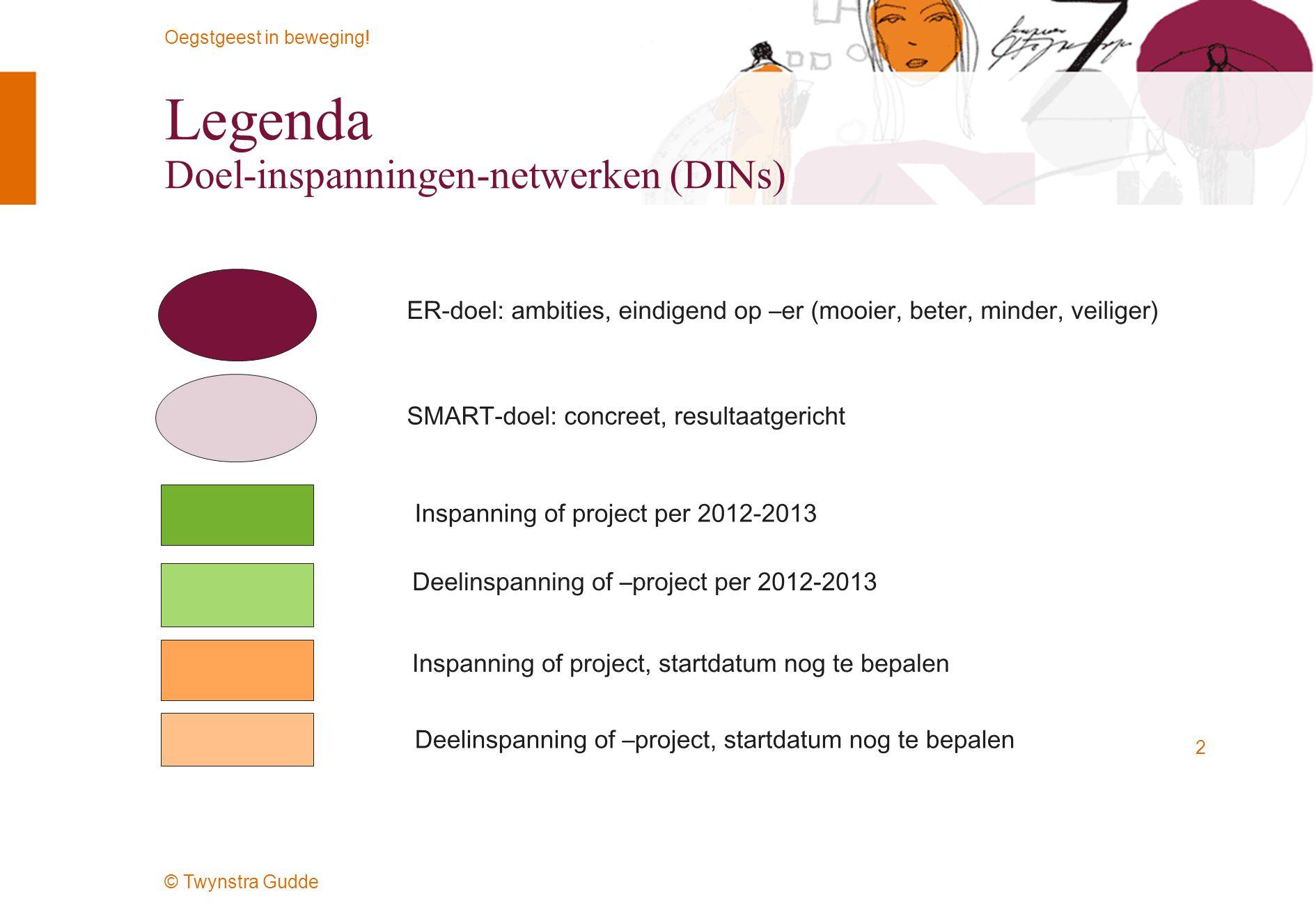 Legenda Doel-inspanningen-netwerken (DINs)