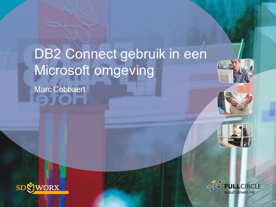 DB2 Connect gebruik in een Microsoft omgeving
