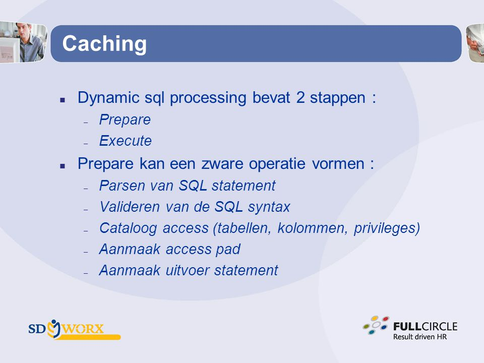 Caching Dynamic sql processing bevat 2 stappen :