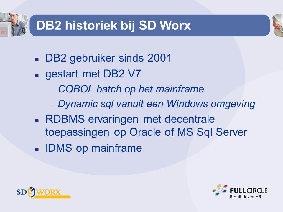 DB2 historiek bij SD Worx