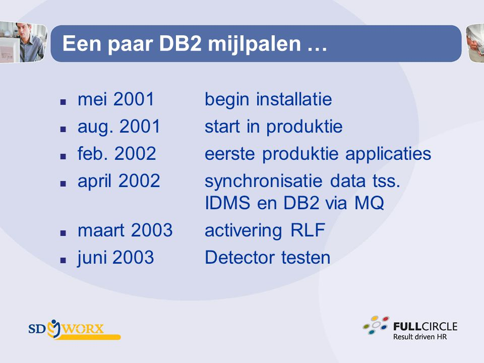 Een paar DB2 mijlpalen … mei 2001 begin installatie