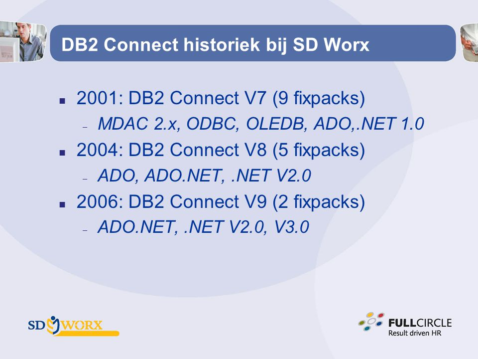 DB2 Connect historiek bij SD Worx