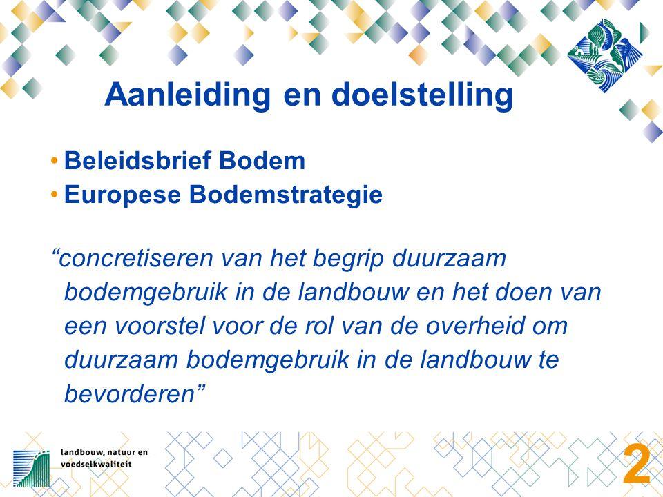 Afbakening Bodemgebruik door agrariërs in Nederland