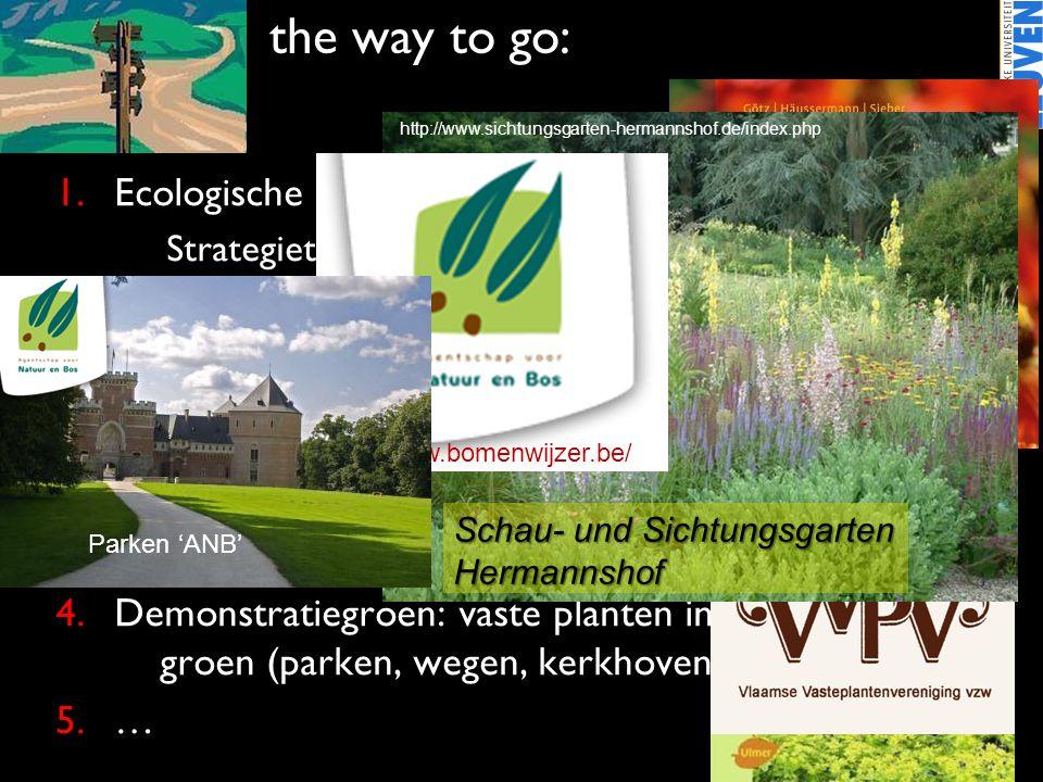the way to go: Ecologische grond van beplantingen versterken