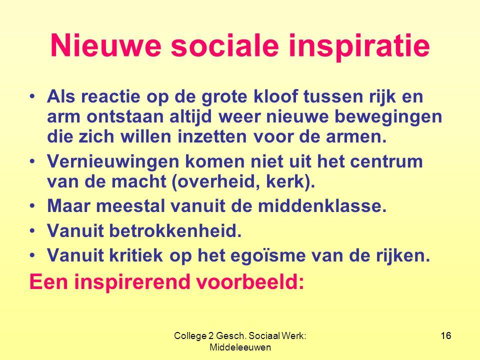 Nieuwe sociale inspiratie