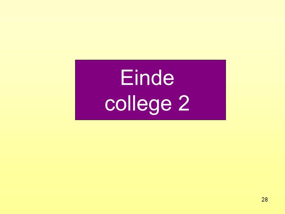 Einde college 2
