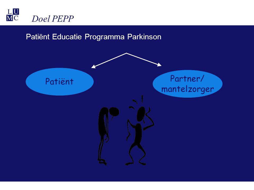 Doel PEPP Patiënt Partner/ mantelzorger