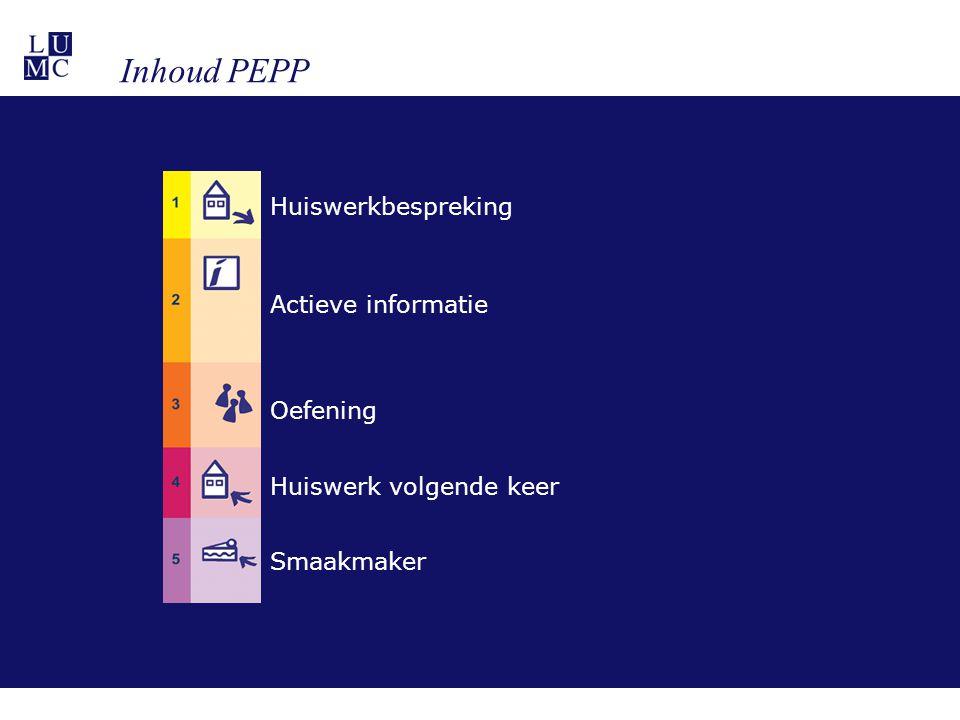 Inhoud PEPP Huiswerkbespreking Actieve informatie Oefening