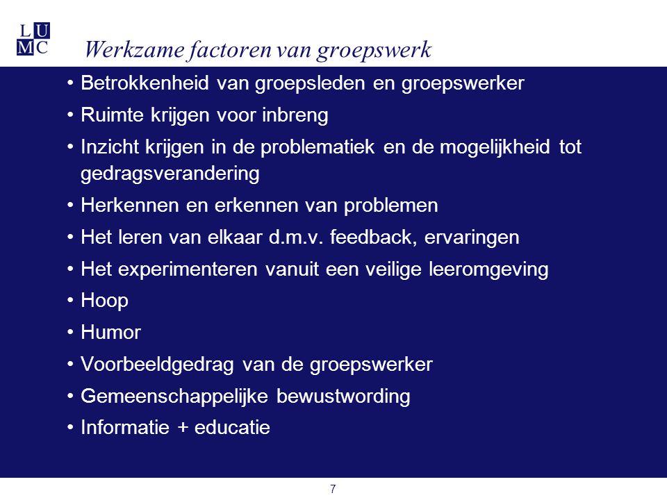 Werkzame factoren van groepswerk