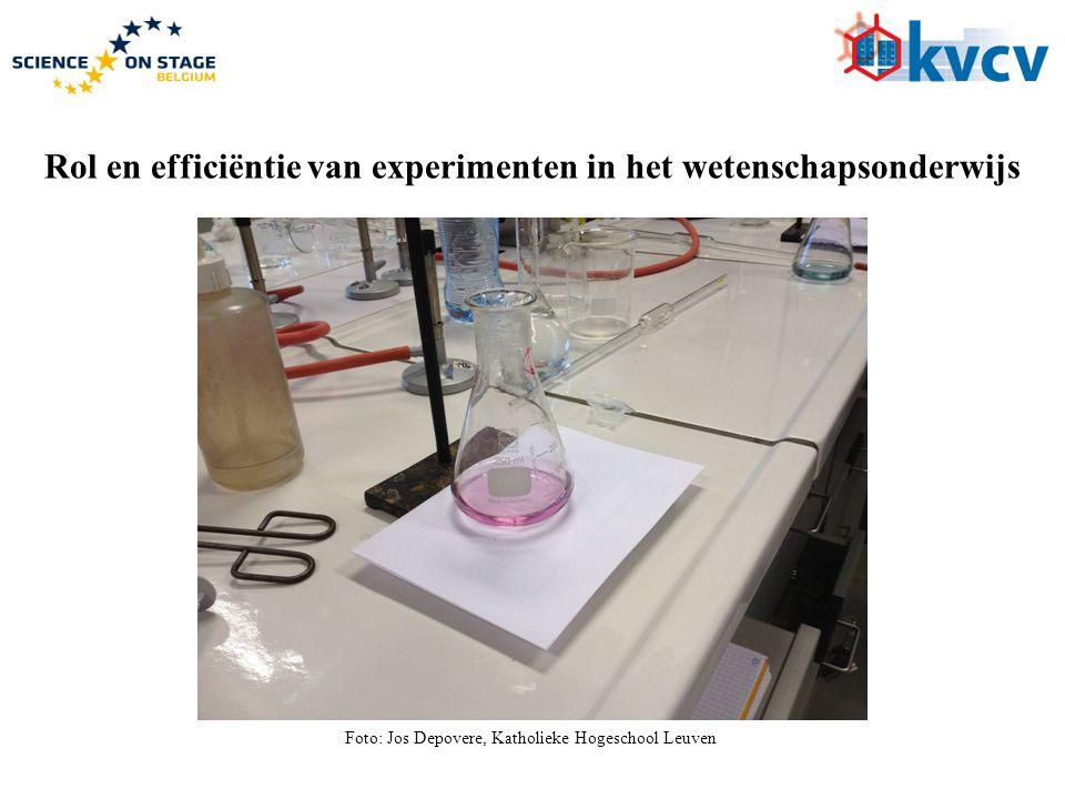 Rol en efficiëntie van experimenten in het wetenschapsonderwijs