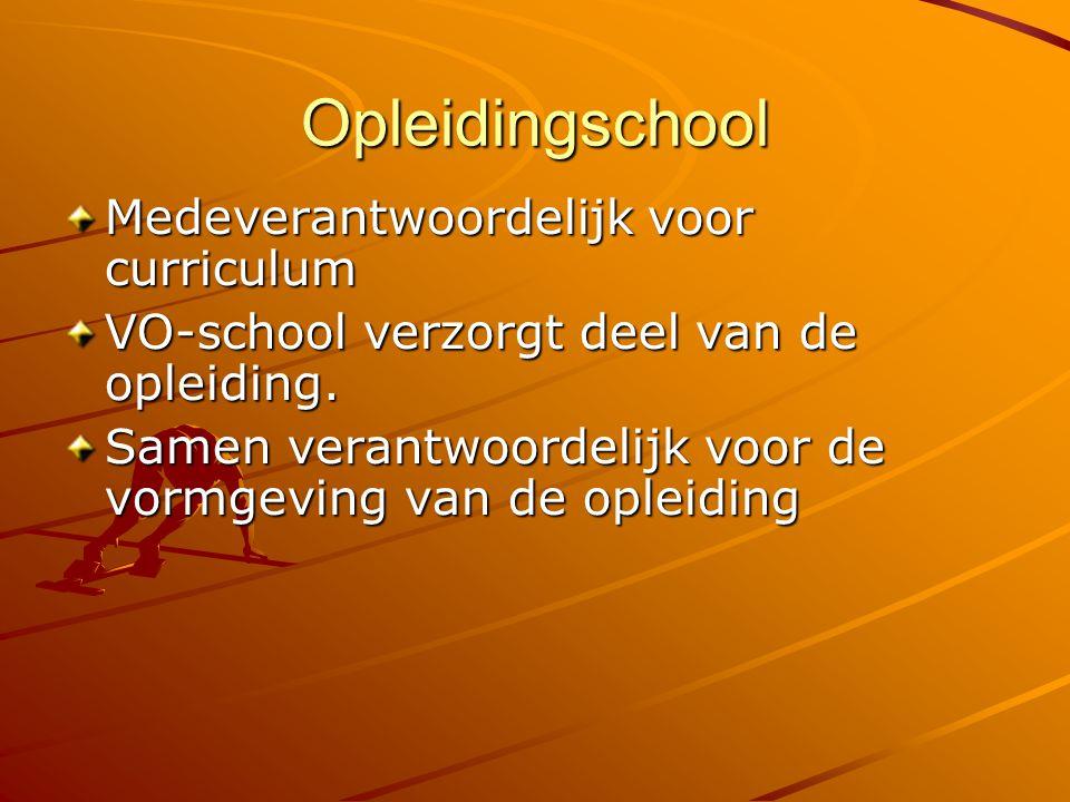 Opleidingschool Medeverantwoordelijk voor curriculum