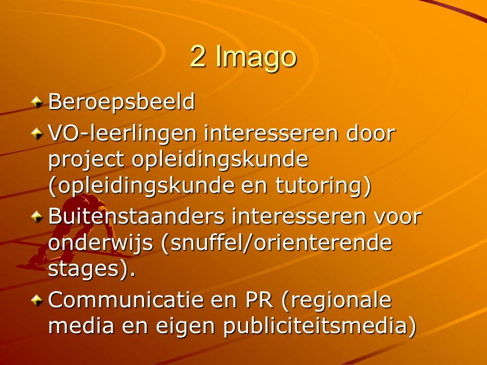 2 Imago Beroepsbeeld. VO-leerlingen interesseren door project opleidingskunde (opleidingskunde en tutoring)