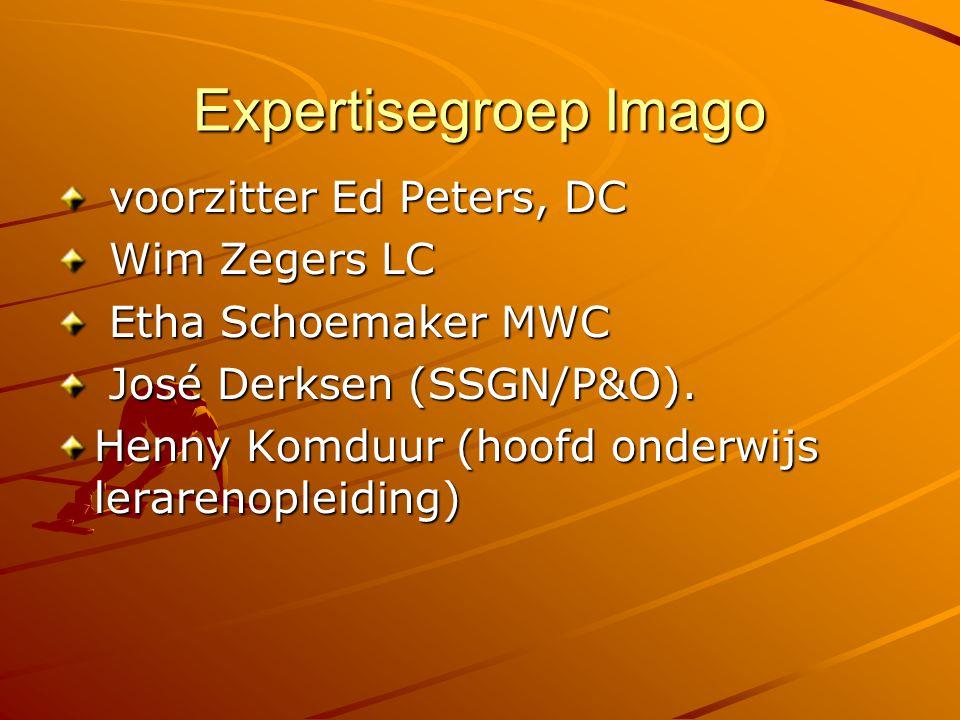 Expertisegroep Imago voorzitter Ed Peters, DC Wim Zegers LC