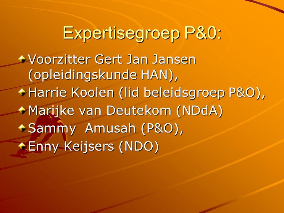 Expertisegroep P&0: Voorzitter Gert Jan Jansen (opleidingskunde HAN),
