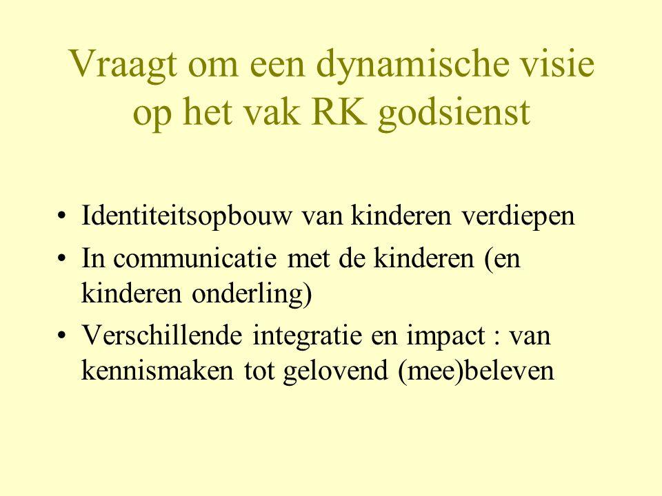 Vraagt om een dynamische visie op het vak RK godsienst