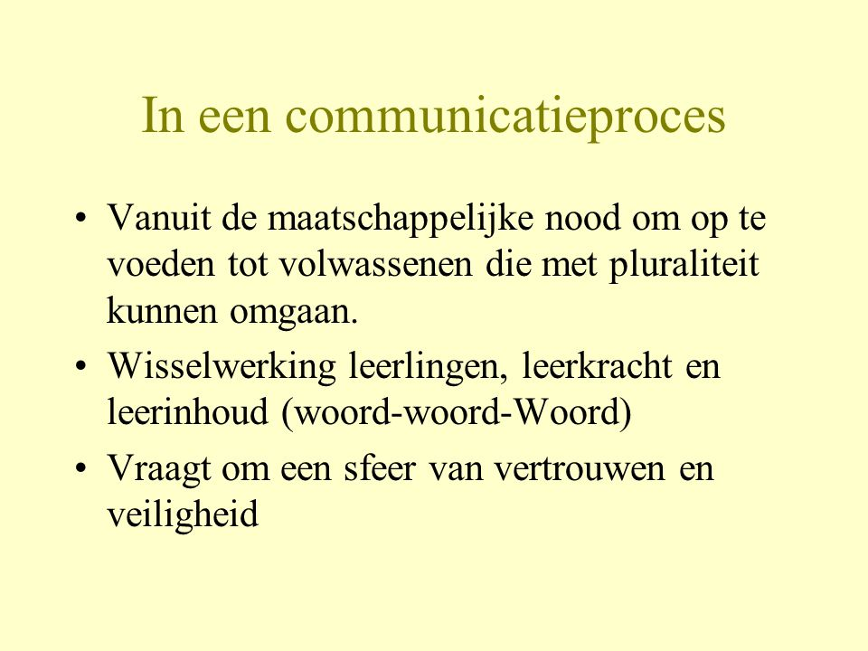 In een communicatieproces