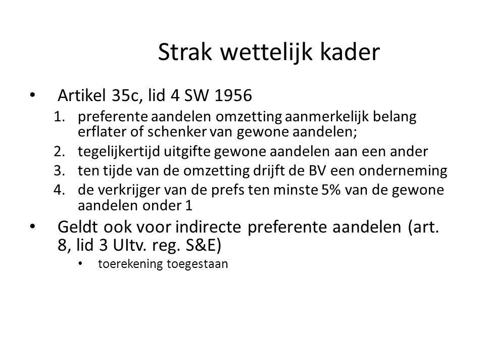 Strak wettelijk kader Artikel 35c, lid 4 SW 1956