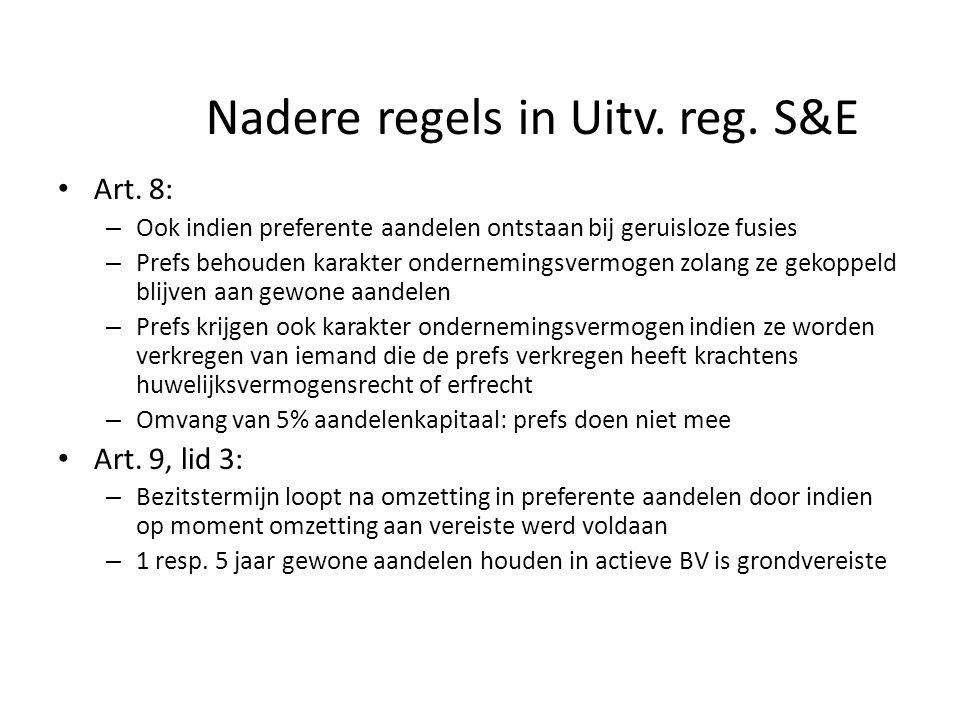 Nadere regels in Uitv. reg. S&E