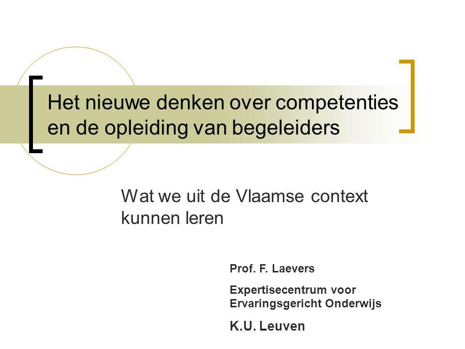 Het nieuwe denken over competenties en de opleiding van begeleiders