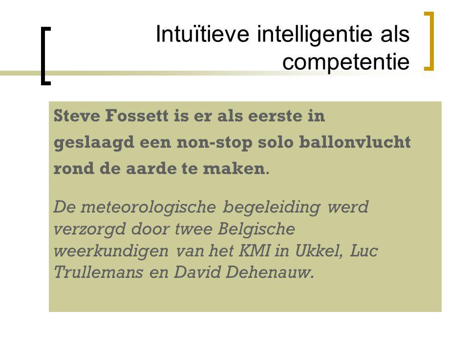 Intuïtieve intelligentie als competentie