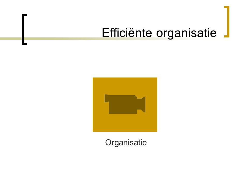 Efficiënte organisatie