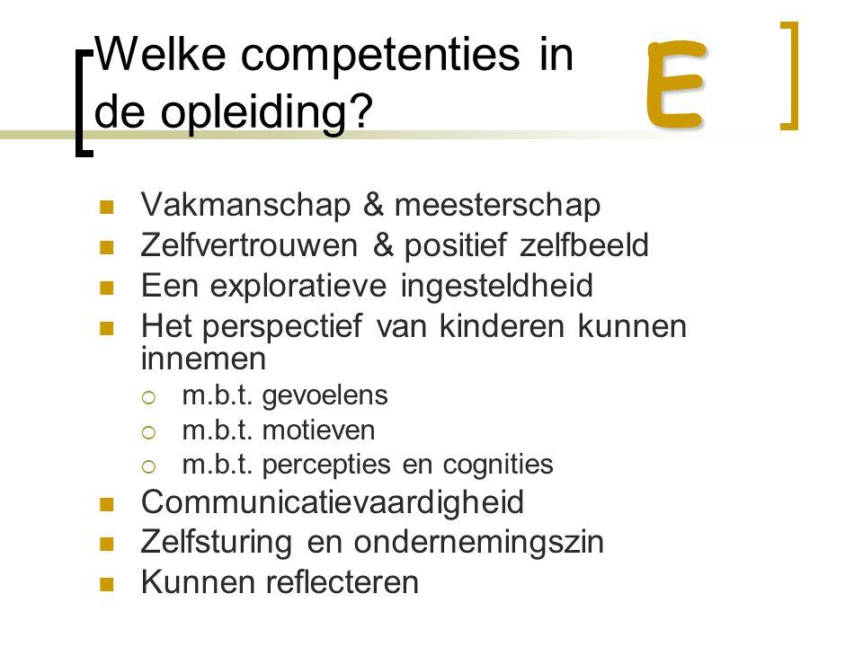 Welke competenties in de opleiding