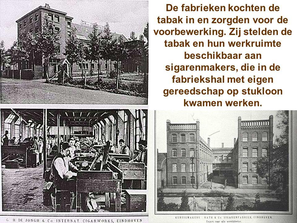 De fabrieken kochten de tabak in en zorgden voor de voorbewerking