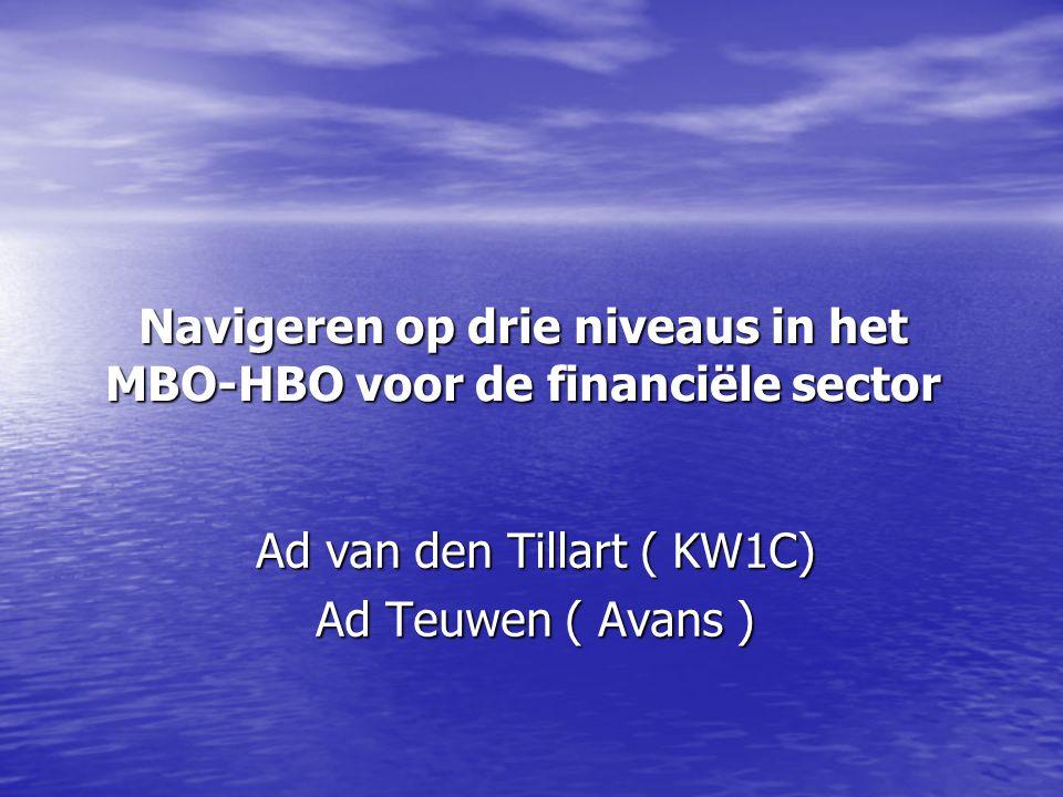 Navigeren op drie niveaus in het MBO-HBO voor de financiële sector