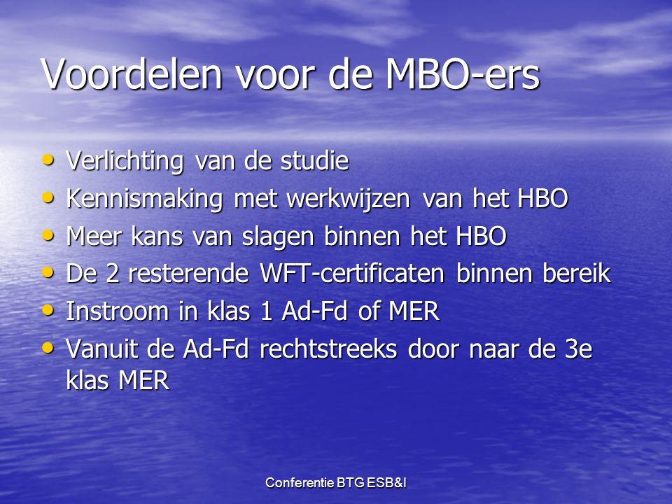 Voordelen voor de MBO-ers
