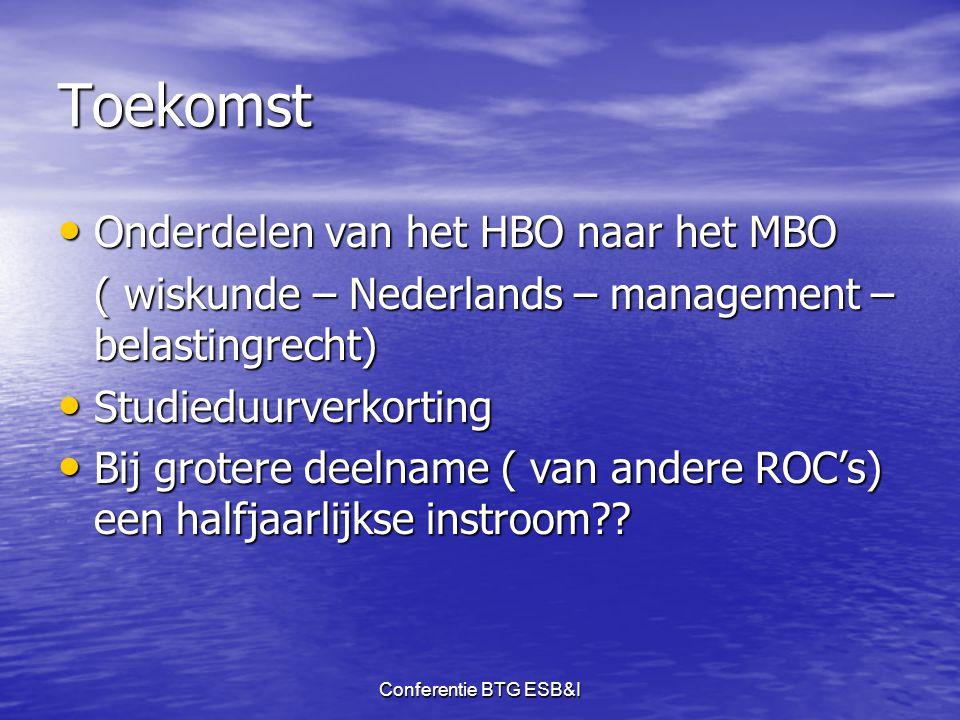 Toekomst Onderdelen van het HBO naar het MBO