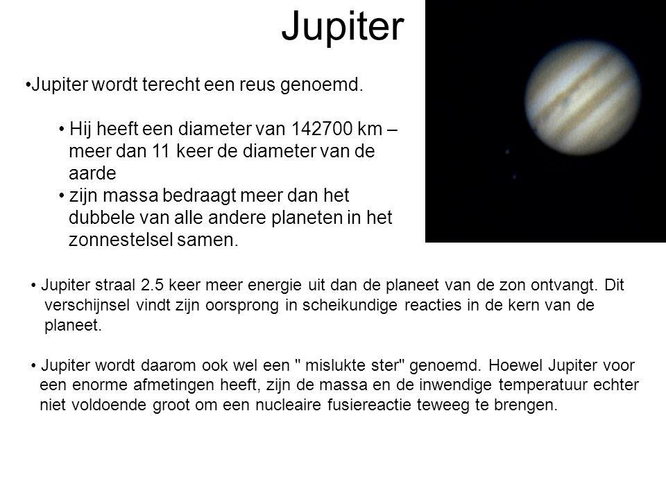 Jupiter Jupiter wordt terecht een reus genoemd.