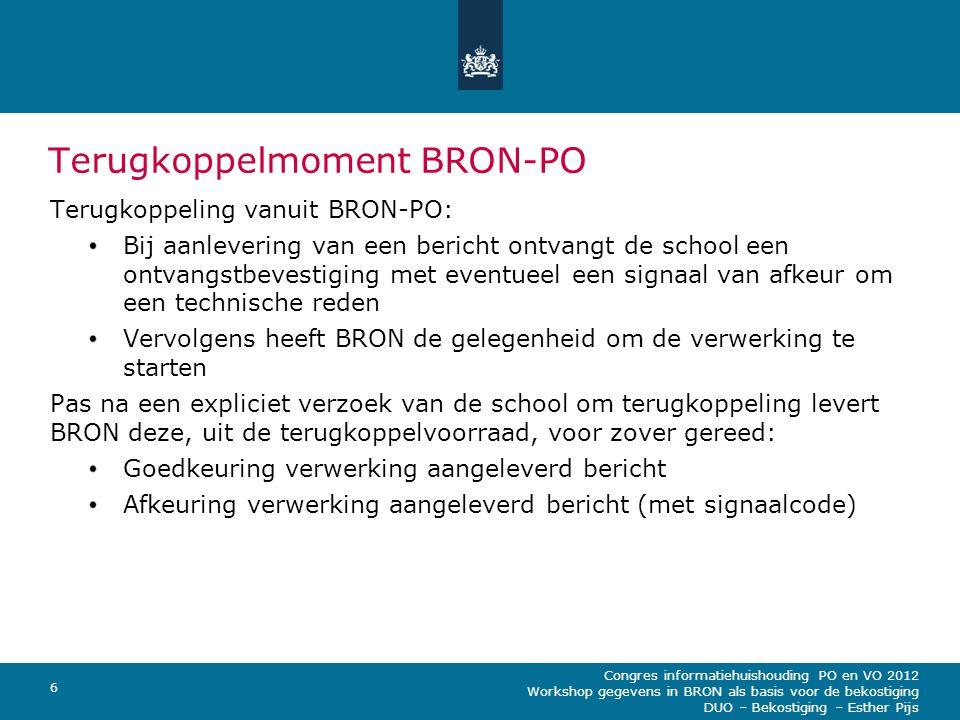 Terugkoppelmoment BRON-PO