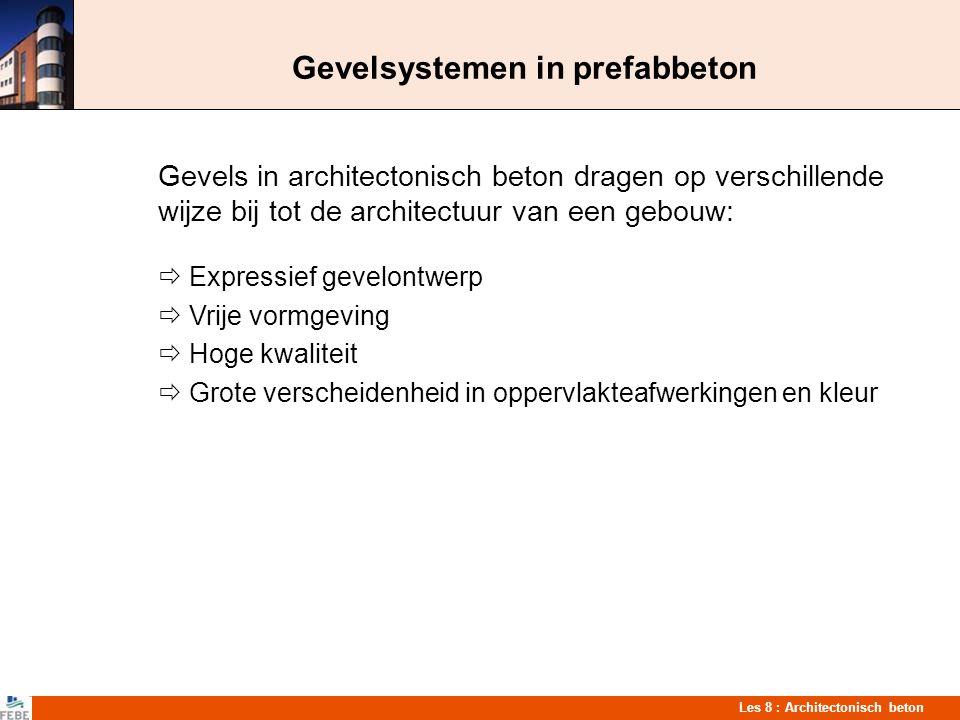 Gevelsystemen in prefabbeton