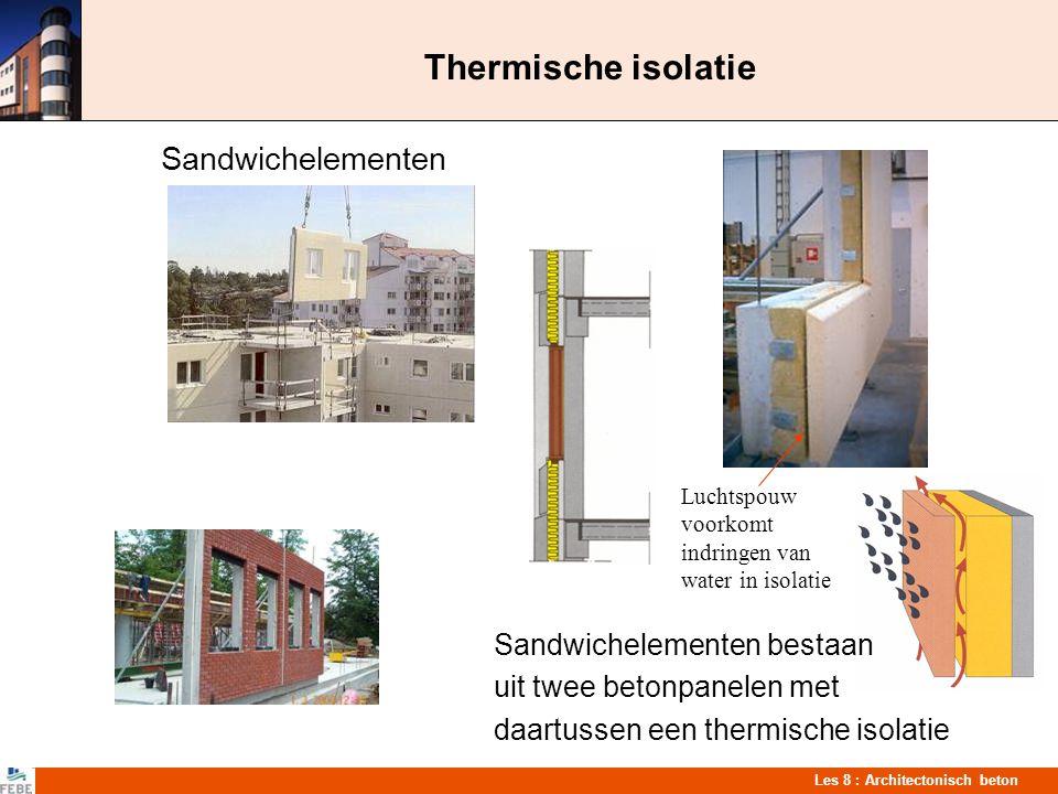 Thermische isolatie Sandwichelementen Sandwichelementen bestaan