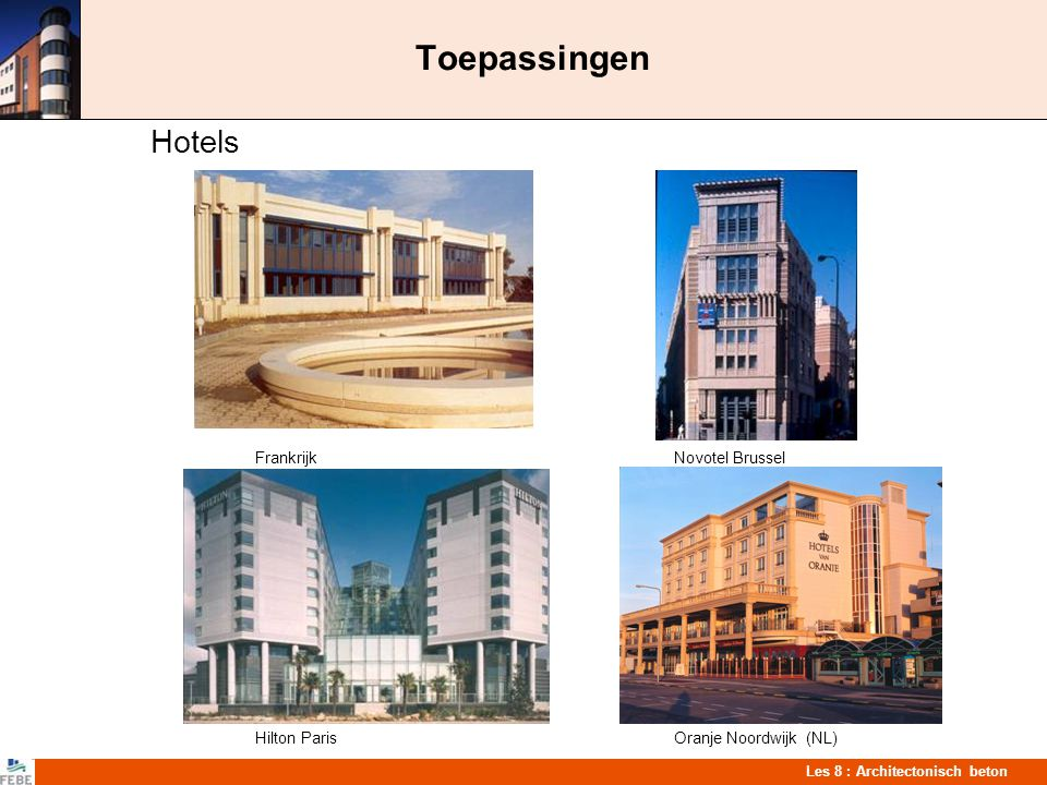 Toepassingen Hotels Frankrijk Novotel Brussel