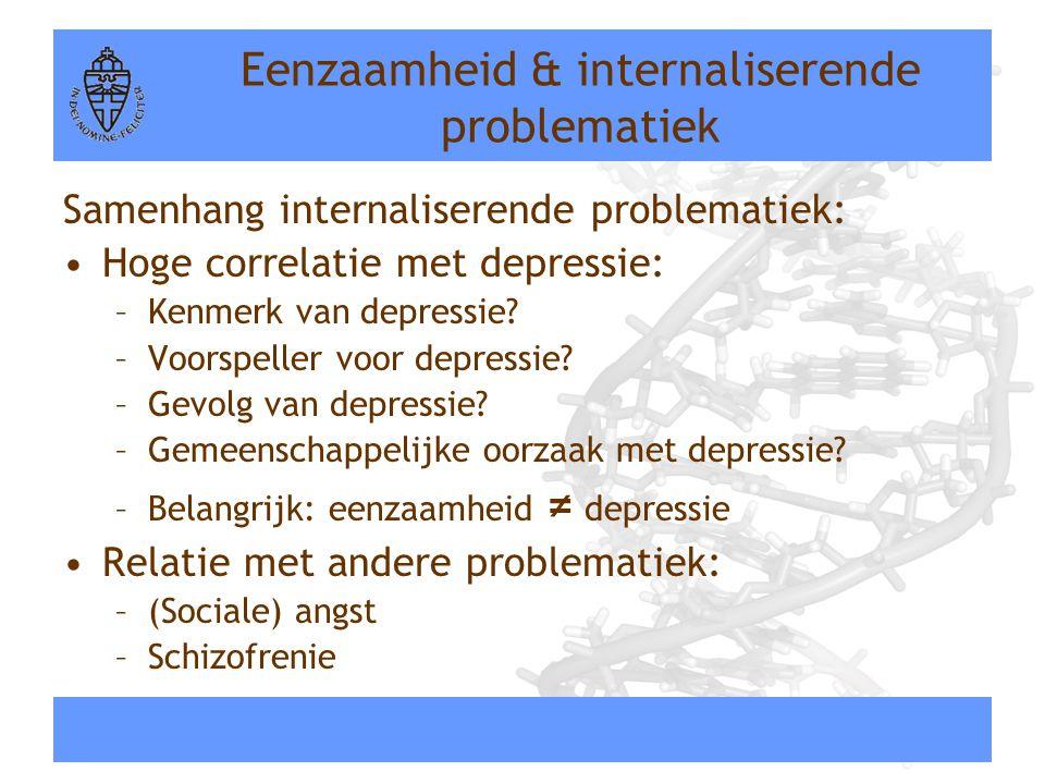 Eenzaamheid & internaliserende problematiek