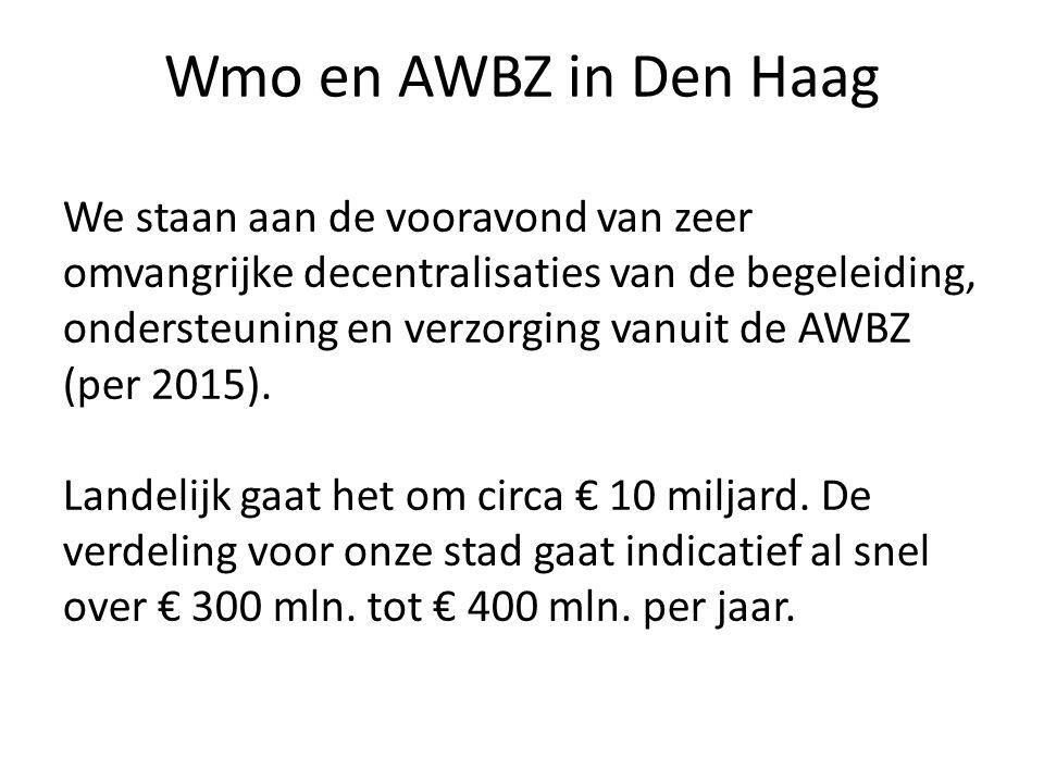 Wmo en AWBZ in Den Haag