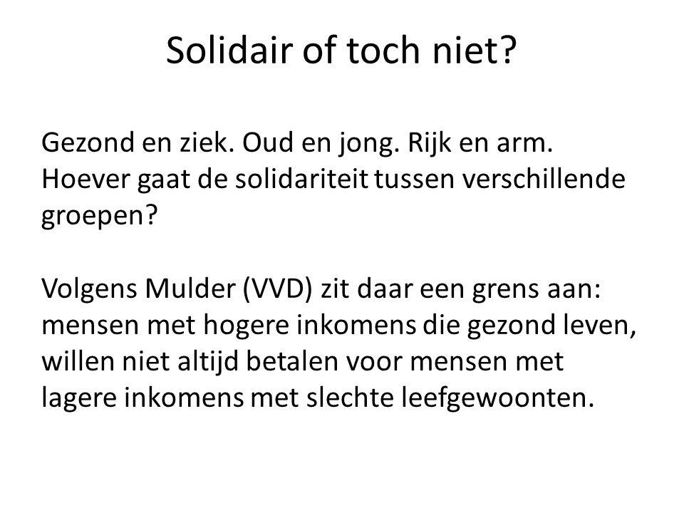 Solidair of toch niet