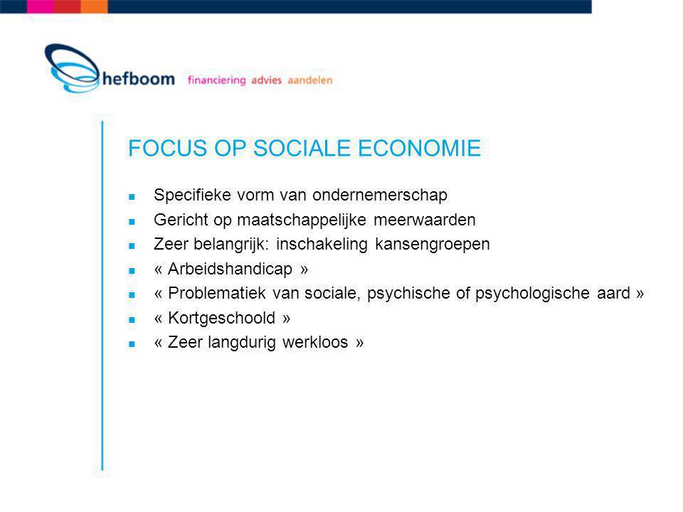 FOCUS OP SOCIALE ECONOMIE