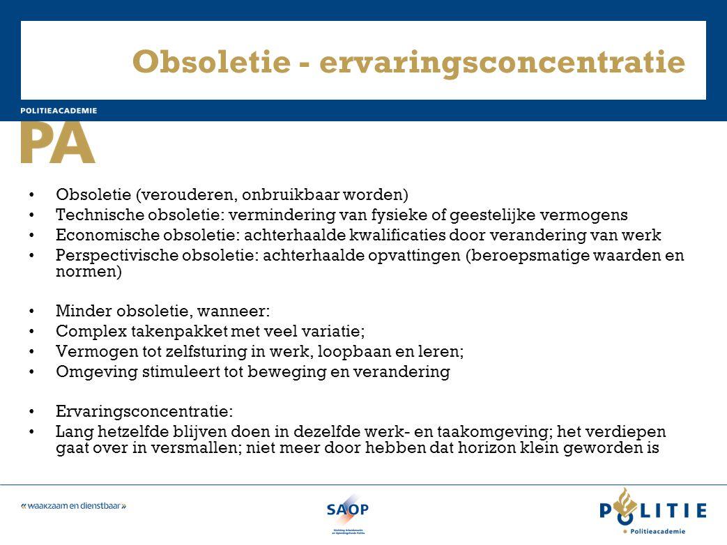 Obsoletie - ervaringsconcentratie