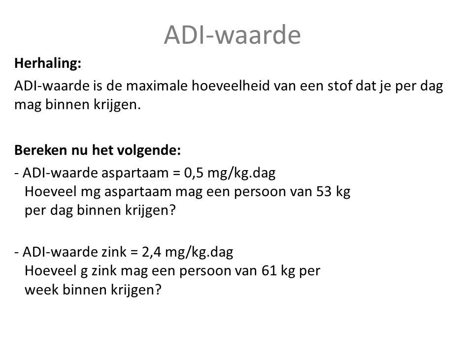 ADI-waarde Herhaling: